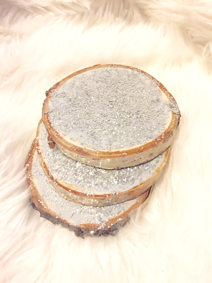 DIY Glam Wooden Coasters…
