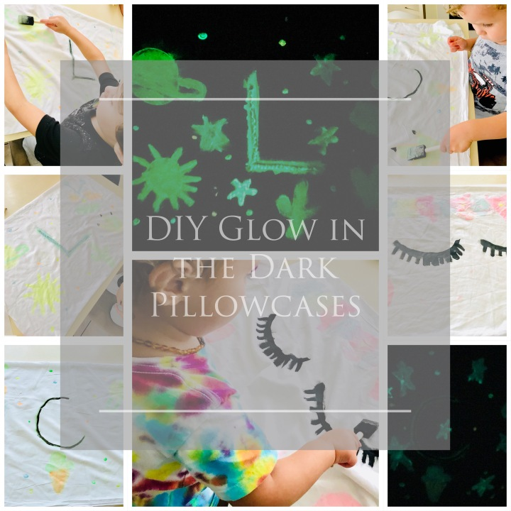 Childhood Art Project: Glow in the Dark Pillowcases