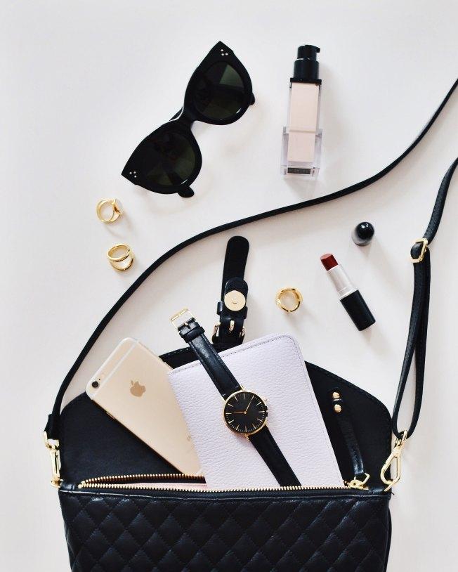Make up bag and sunnies