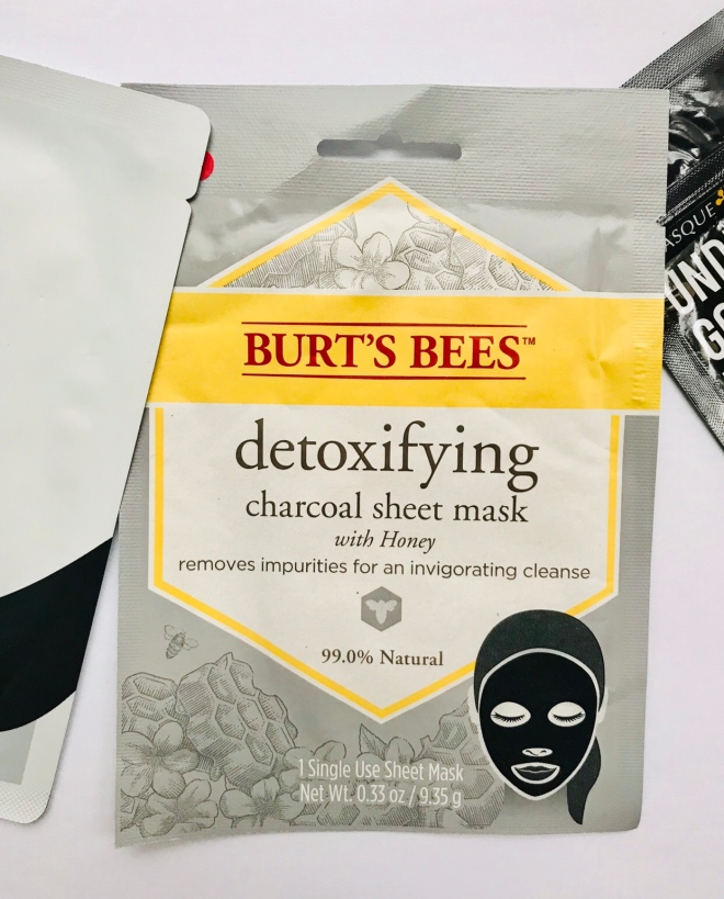 Burt's Bees Charcoal Sheet Mask Review